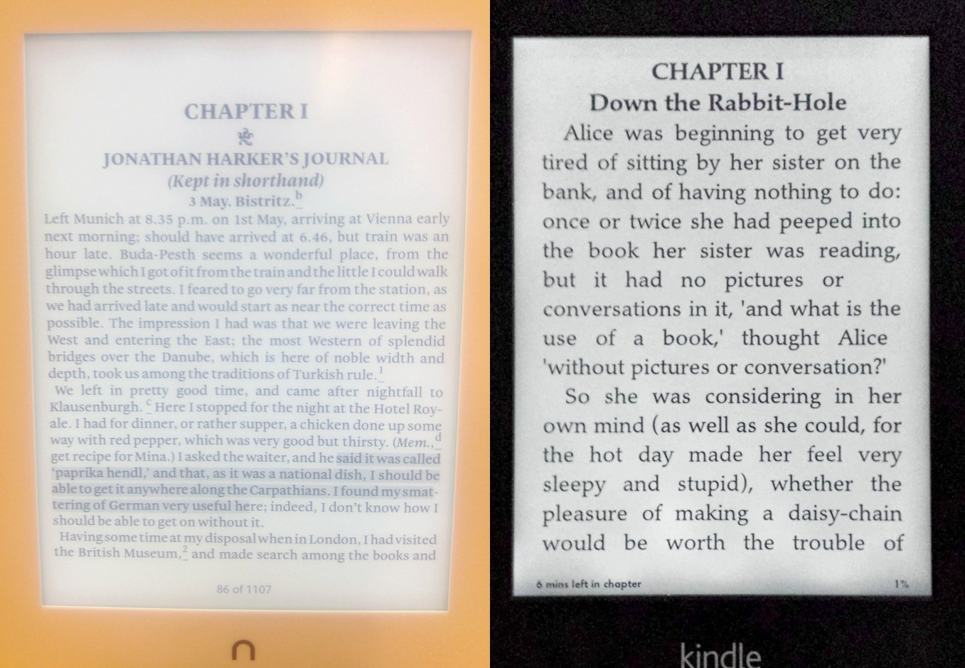Nook GlowLight Plus vs Kindle Paperwhite